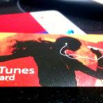 初のiTunesカード