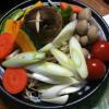 初のタジン鍋で温野菜