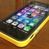 iPhone5にSPIGEN SGP イエローバンパーを装着