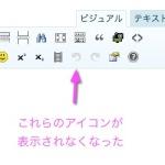 WordPress編集画面のビジュアルエディタのアイコンが消えた?!