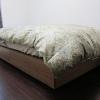 無印良品のベッドと西川羽毛布団の組み合わせで新調