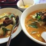北京老飯店の中華丼と担々小ラーメンセット