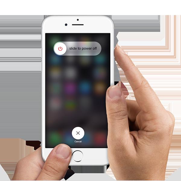 Iphone6 hands power off