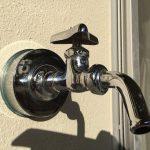 大掃除の一環で水栓周りの磨き